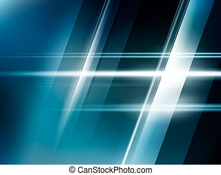 青, 抽象的, ライト, 明るい, ベクトル, 背景