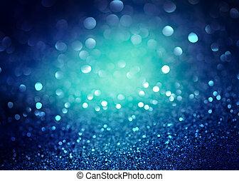 青, 抽象的, ライト, 背景