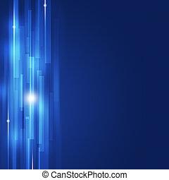 青, 抽象的, ライン, ビジネス, 背景