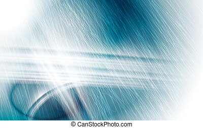 青, 抽象的, ライン, ベクトル, 背景, 白
