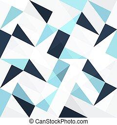 青, 抽象的, 三角形, seamless, 背景
