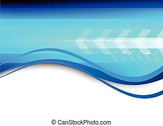 青, 抽象的, 技術, 背景