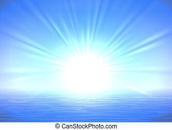 青, 抽象的, 日の出, 背景