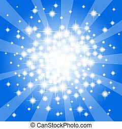 青, 抽象的, 星, 背景