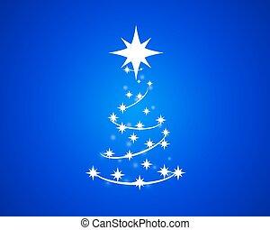 青, 抽象的, 木, クリスマス, 背景