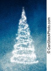 青, 抽象的, 木, 背景, 光沢がある, クリスマス