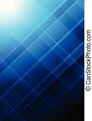 青, 抽象的, 格子, 形, 背景, corporated, 幾何学的, 背景