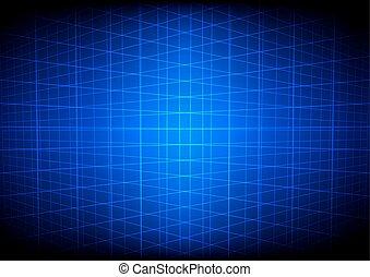 青, 抽象的, 格子, 見通し, 背景, 技術