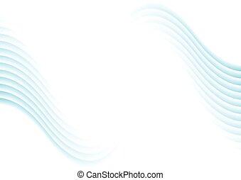 青, 抽象的, 波状, 背景