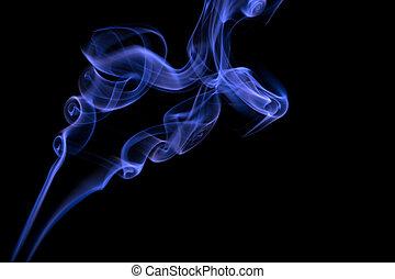 青, 抽象的, 煙, 背景
