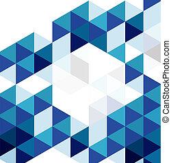 青, 抽象的, 現代, ベクトル, デザイン, 背景, 幾何学的, template.