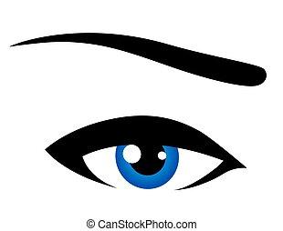 青, 抽象的, 目