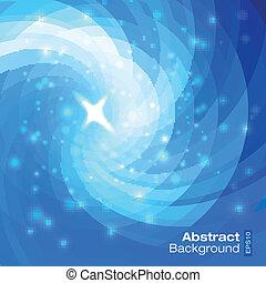 青, 抽象的, 背景, 円
