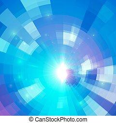 青, 抽象的, 背景, 円, 技術, モザイク