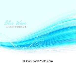 青, 抽象的, 背景, 波