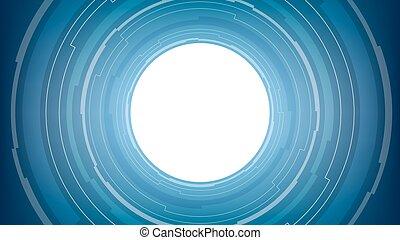 青, 抽象的, 背景, 白, 技術, 円