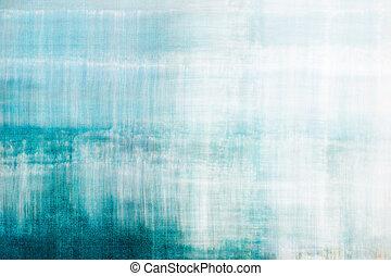 青, 抽象的, 背景, textured
