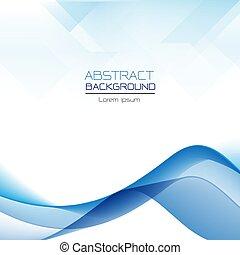 青, 抽象的, 重なり合う, 波, ベクトル, 背景