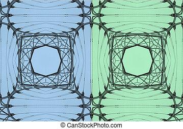 青, 抽象的, 2, 緑