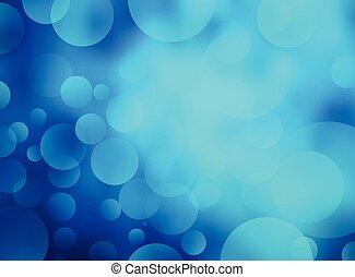 青, 抽象的, bokeh, 背景, 円