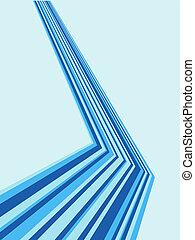 青, 斜め, ベクトル, ストライプ, 背景