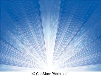 青, 日の出, 背景