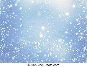 青, 星, お祝い, 色, 型, 抽象的, 光っていること, バックグラウンド。, bokeh, 背景, 白, きらめく