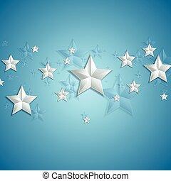青, 星, 灰色, 背景