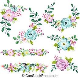 青, 春の花