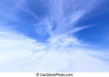 青, 晴れわたった空, 背景