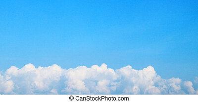 青, 晴れわたった空, 雲, 背景