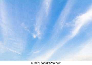 青, 晴れわたった空, clouds., 背景, 白
