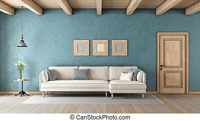 青, 暮らし, 白い部屋, ソファー