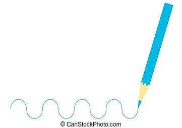 青, 木製である, 図画, 鉛筆