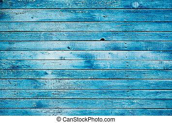 青, 木製である, 汚い, 壁