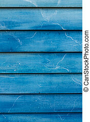 青, 木製の壁