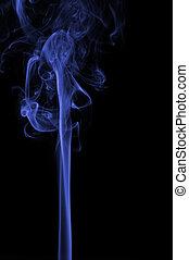 青, 柱, 煙