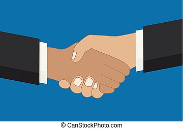 青, 概念, 人々, 手, 協力, 2, 背景, 振動
