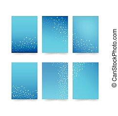 青, 概念, 抽象的, 001, コレクション, 要素, 接続, ベクトル, イラスト, 背景, 円, 点