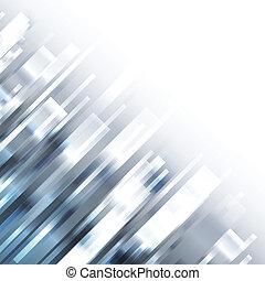 青, 概念, hi-tech, イラスト, 暗い, ベクトル, 背景