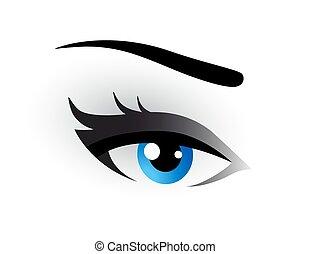 青, 構造, 目