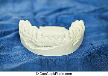 青, 歯医者の, モデル, 背景