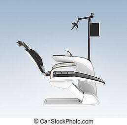 青, 歯科医, 光景, 椅子, 側