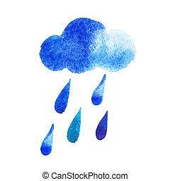 青, 水彩画, 生地, 低下, 低下, 背景, 包むこと, 雨滴, 壁紙,  -, 雨,  seamless, 秋, 主題, ベクトル, 装飾, 水, 創造的, 定型, デザイン