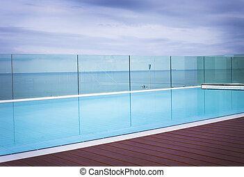 青, 涼しい, 勧誘, プール, 水泳