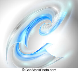 青, 渦巻, 抽象的, 背景
