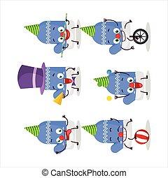青, 漫画, ショー, サーカス, 様々, 新しい, 手袋, 特徴