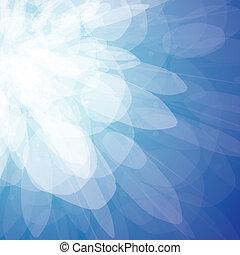 青, 火花, 抽象的, -, ベクトル, 背景
