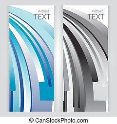 青, 灰色, 要素, 抽象的, 背景, 幾何学的