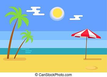 青, 熱帯 島, 熱 湯, 砂, 海岸